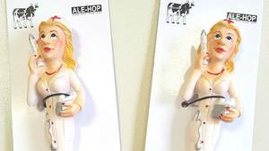 Los bolígrafos sexitas de las tiendas Ale-Hop, denunciados por el sindicato de enfermería Satse.
