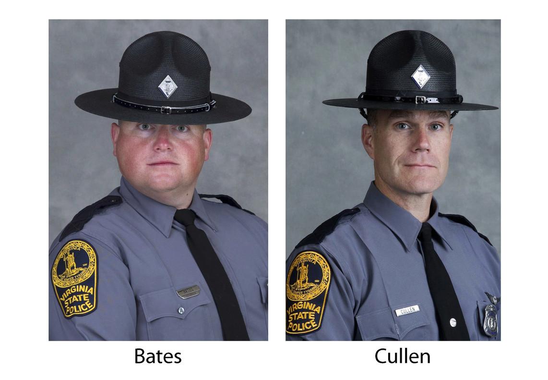 Los dos policías muertos en la violenta jornada racista de Charlottesville.