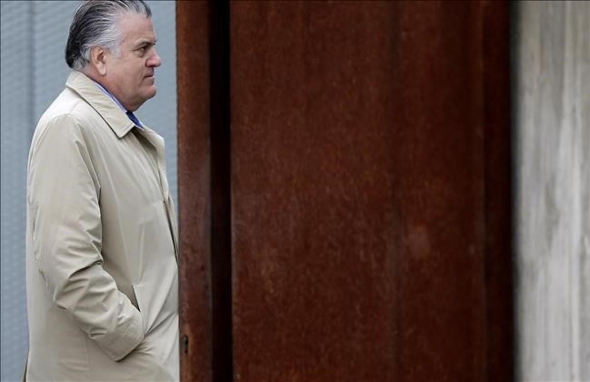 Luis Bárcenas, durante una declaración en la Audiencia Nacional