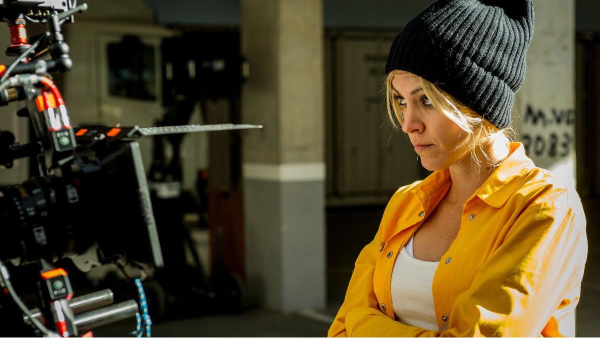 Maggie Civantos, en el rodaje de la tercera temporada de 'Vis a vis'.