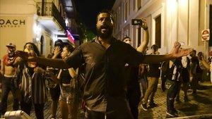 Manifestación en San Juan para pedir la destitución del gobernador de Puerto Rico.