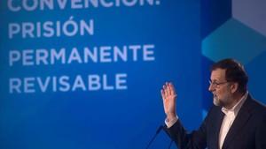 Mariano Rajoy, este domingo en Córdoba.