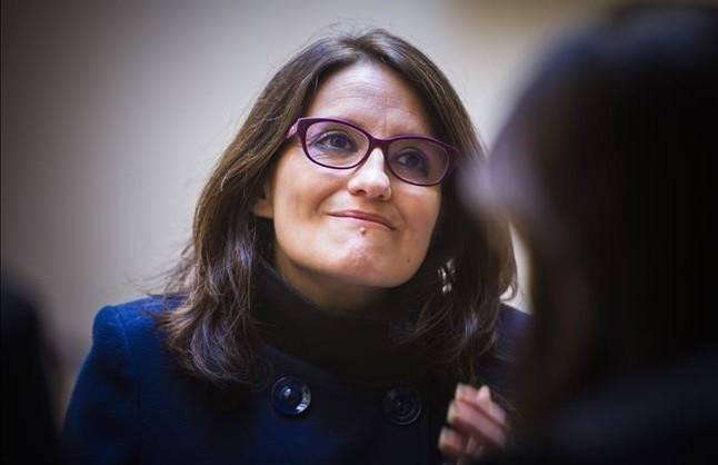 La vicepresidenta de la Generalitat valenciana, Mónica Oltra, en una rueda de prensa el pasado 20 de enero.