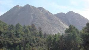 La montaña de residuos salinos de El Cogulló, en Sallent, fruto de décadas de actividad minera.