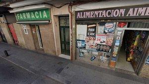 La mujer dio a luz en esta calle del distrito de Puente de Vallecas.