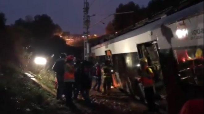 Un muerto y varios heridos tras descarrilar un tren en Vacarisses.