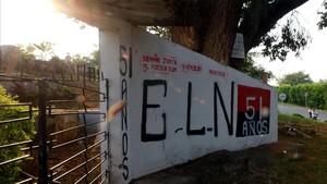 Mural alusivo al ELN en El Palo (Colombia).