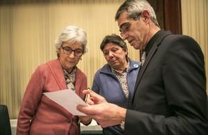Muriel Casals, en la constitución de las comisiones del Parlament de Catalunya en 2016.
