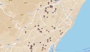 Mapa de Barcelona creado por 'Ciudad Compartida'.