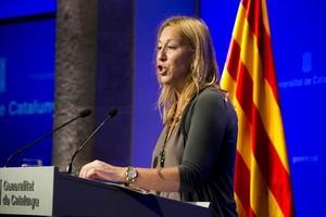 La consellera de Presidencia y portavoz del Govern, Neus Munté.