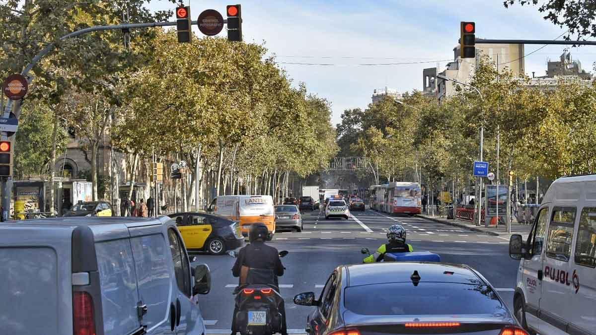 Normalidad en la plaza de la Universitat de Barcelona tras el desalojo de la acampada.