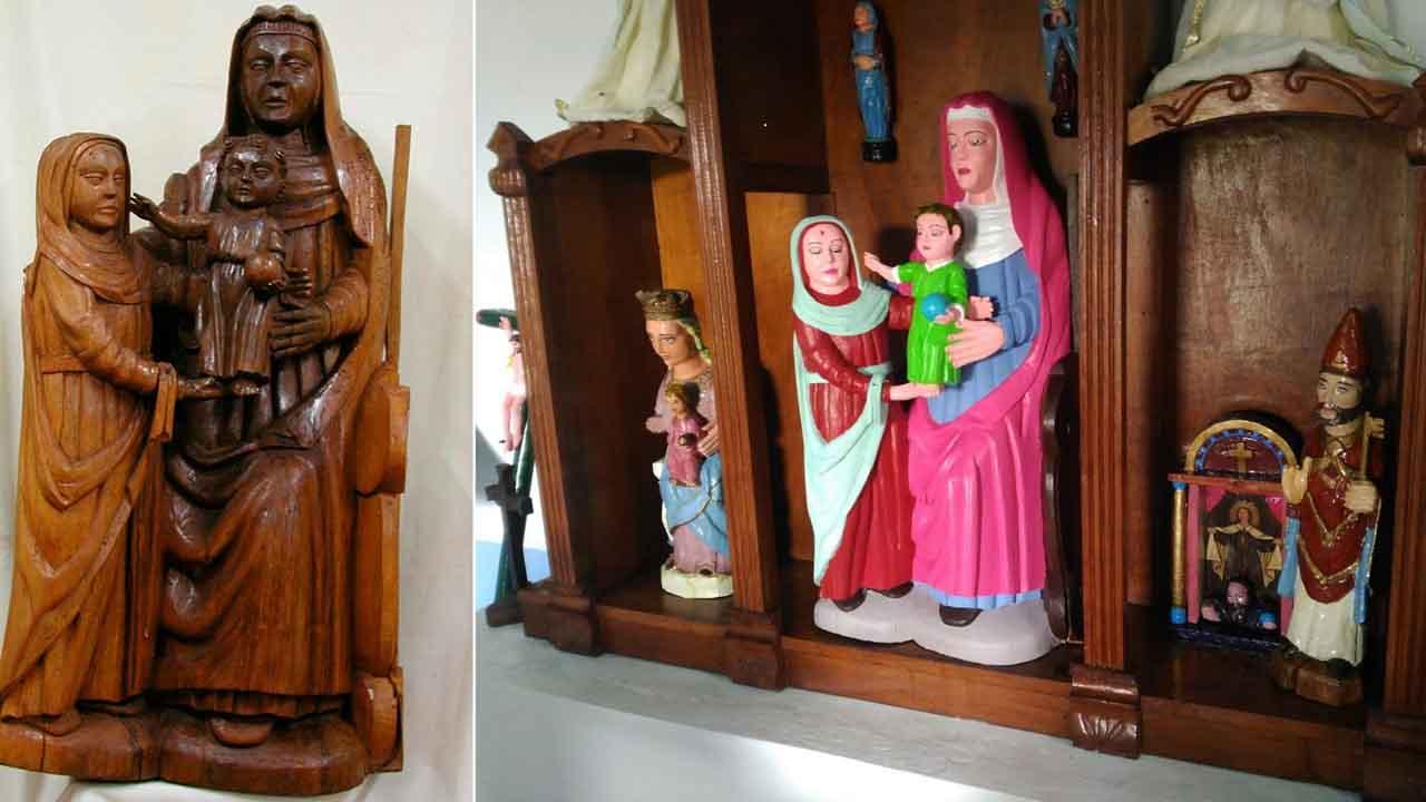 Las tres tallas del siglo XV pintadas por la estanquerade Rañadoiro.