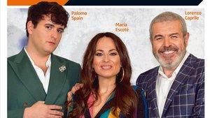Palomo Spain, María Escoté y Lorenzo Caprile, jueces de 'Maestros de la costura', en la portada de 'Teletodo'.