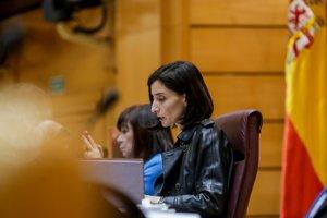 La presidenta del Senado, Pilar Llop, durante la segunda sesión de control celebrada en el Senado en esta legislatura para responder a la oposición, en Madrid, a 25 de febrero de 2020.
