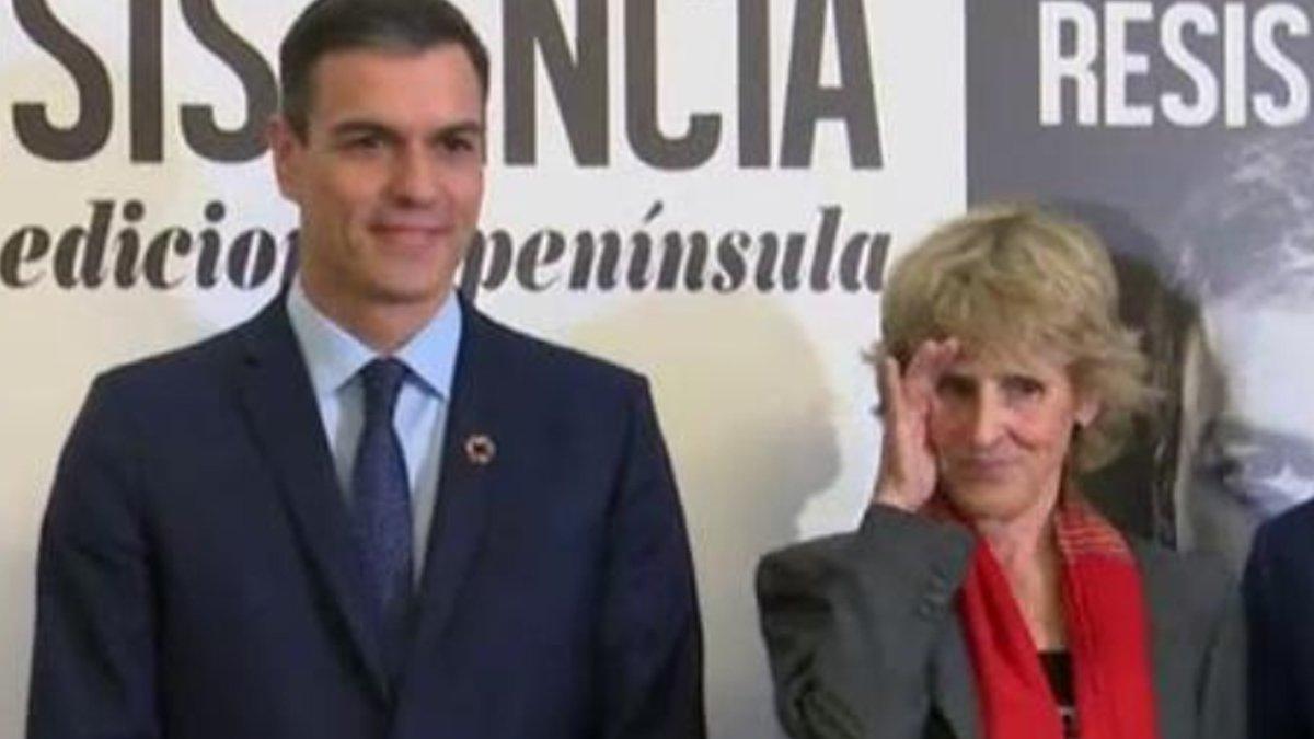 Mercedes Milá se acuerda de Albert Rivera y Malú en la presentación del libro de Pedro Sánchez