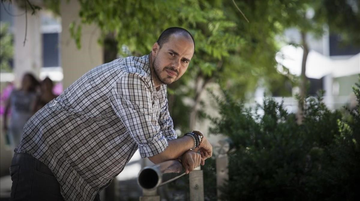 El periodista Antonio Pampliega, en Barcelona.