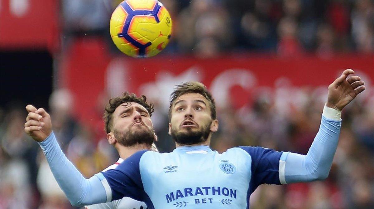 Portu, en un partido de esta temporada con el Girona