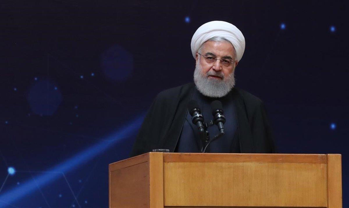 El presidente iraní, Hasan Rohani, en Teherán.