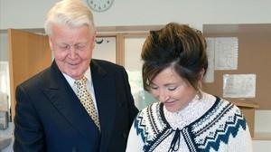 El presidente islandés, Olafur Ragnar Grimsson, y su esposa Dorrit Moussaieff.