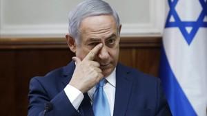 El primer ministro israelí, Binyamin Netanyahu, durante la reunión semanal de su Consejo de Ministros, en Jerusalén, el 11 de febrero.