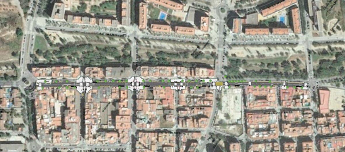 El proyecto incluye mejoras entre la avenida de la Roureda y el cruce con la calle Àngel Aranyó de Viladecans