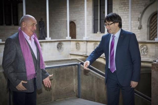 Rabell y Puigdemont, en el Palau de la Generalitat.