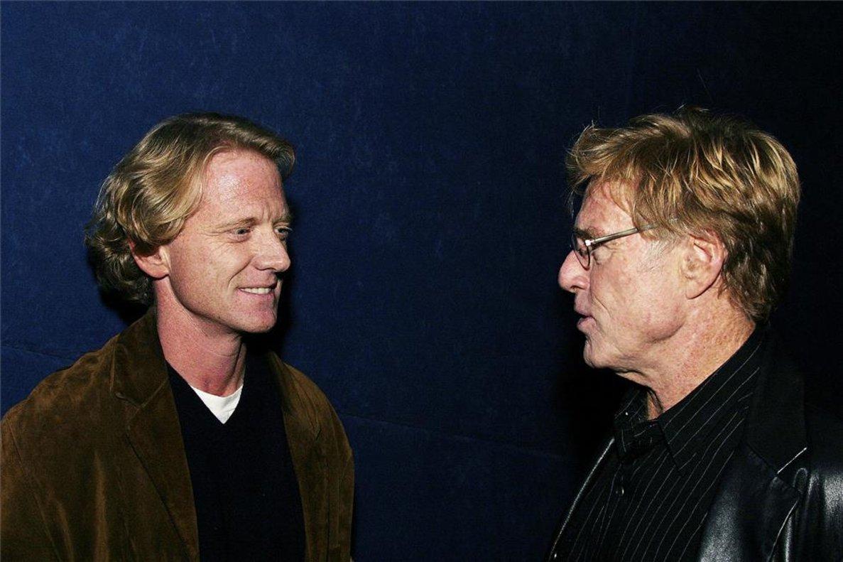 Robert Redford y su hijoJames Redford.