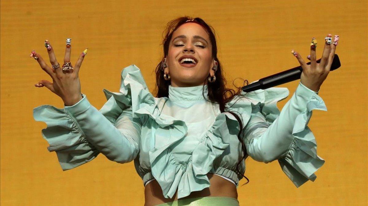 Rosalía actúa en la fiesta de bienvenida del festival Mad Cool 2019, el pasado mes de julio.