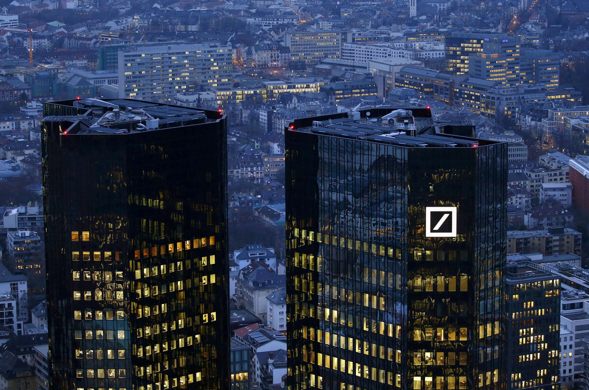 Sede central del Deutsche Bank en Fráncfort, Alemania.