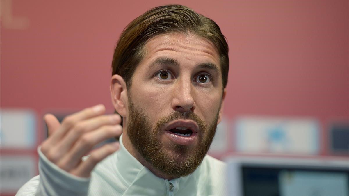 Sergio Ramos, en la rueda de prensa en Cádiz.