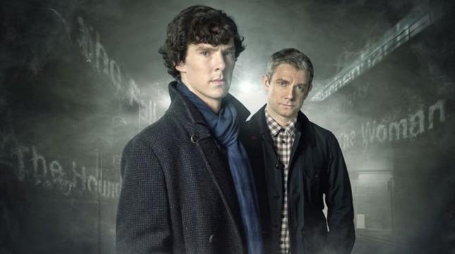 Imagen promocional de la serie de la BBC 'Sherlock', protagonizada por Benedict Cumberbatch y Martin Freeman.