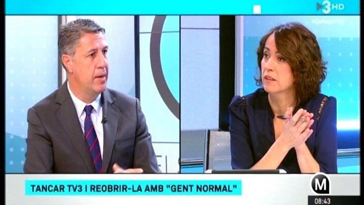Xavier García Albiol con Lídia Heredia, en Els matins de TV-3.