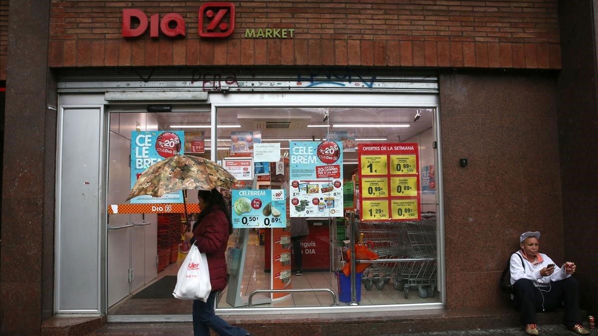 Un supermercado Dia en Barcelona.