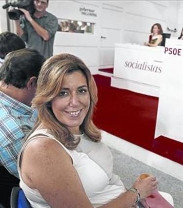 Susana Díaz, en el Comité Federal del PSOE celebrado el sábado.