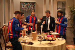 Luis Enrique y jugadores del Barça, en 'Crackòvia' (TV-3).