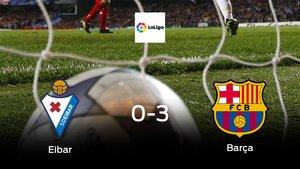 Tres puntos para el casillero del Barcelona tras golear al Eibar (0-3)