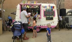 Una food truck en el parque de la Ciutadella.