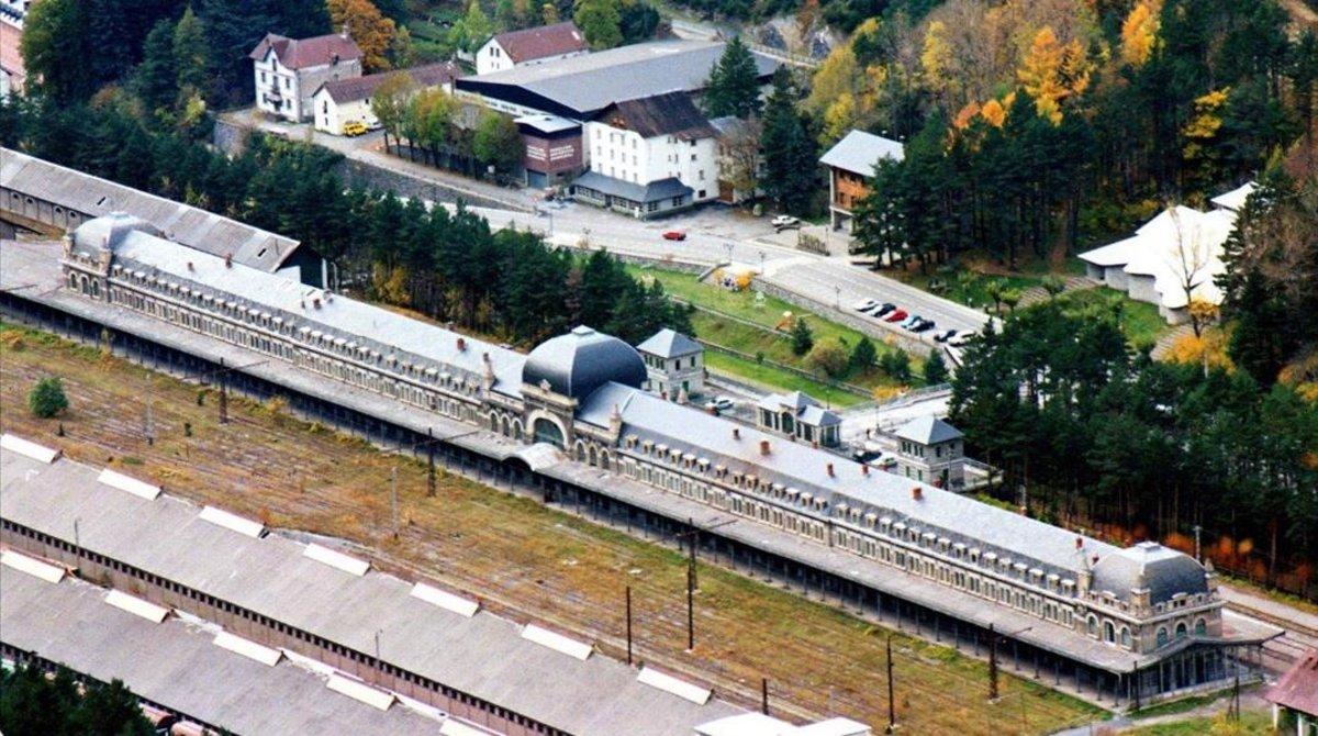 La estación de tren de Canfranc.
