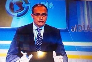 El sudor empaña el debut de Urdaci en los informativos de 13tv