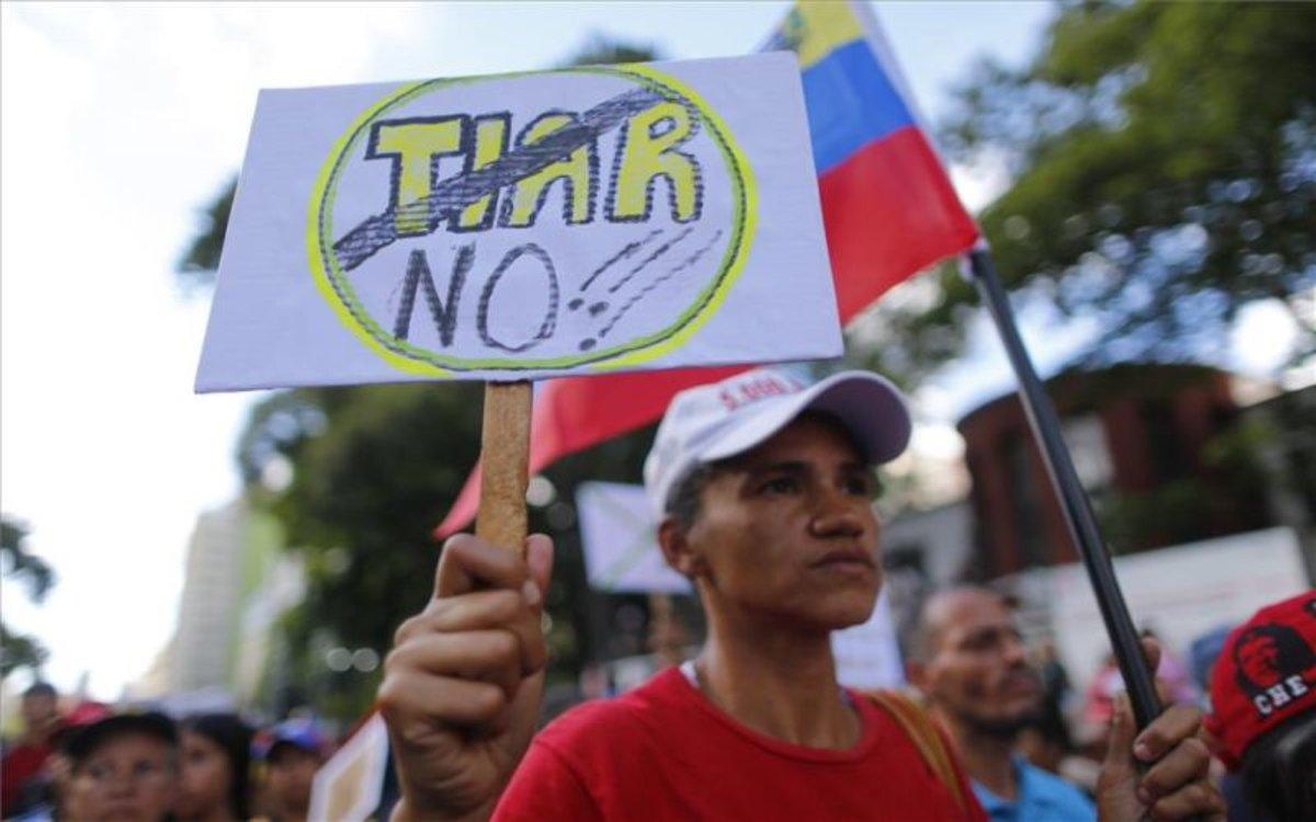 Marchas en apoyo de Nicolás Maduro en Venezuela.