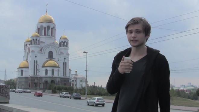 El jovenbloguero Ruslán Sokolovsky.