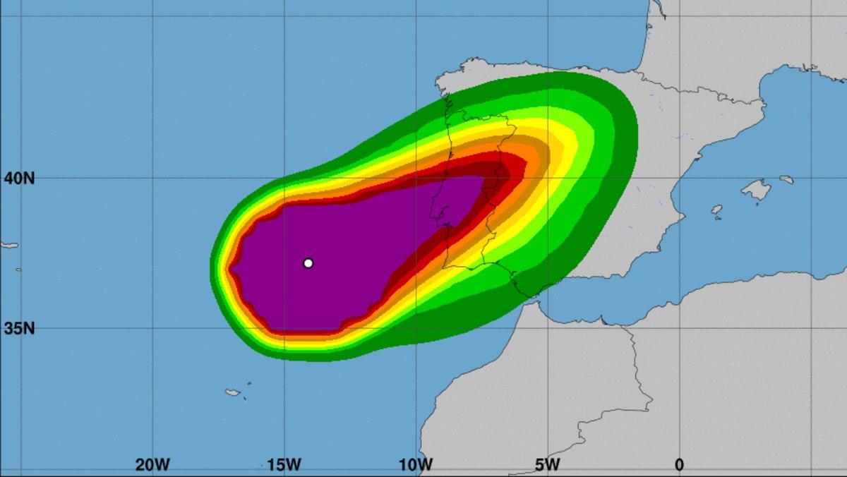 El huracán 'Leslie' llegará muy debilitado a Catalunya
