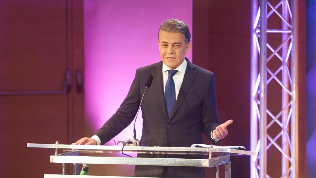 Joaquim Maria Puyal, en la conmemoración de los 40 años del programa radiofónico 'La TdP'.
