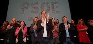 Pedro Sánchez, durante la presentación de su proyecto político.