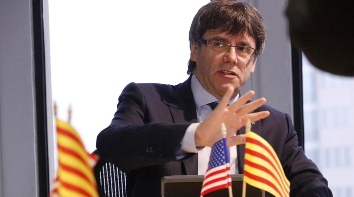 El presidente de la Generalitat, Carles Puigdemont, en el Innovation Center CIC del Massachessets Institute of Technology.