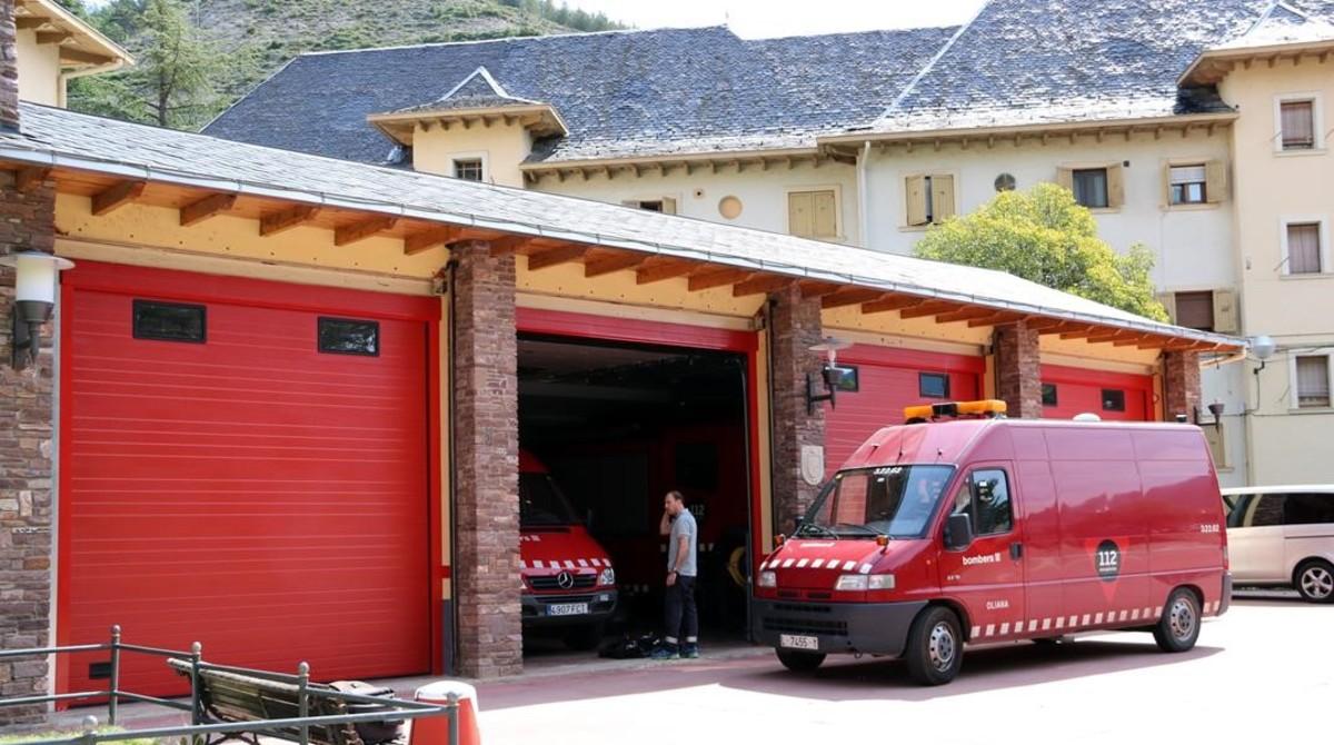 Exterior del parque de bomberos de El Pont de Suert.
