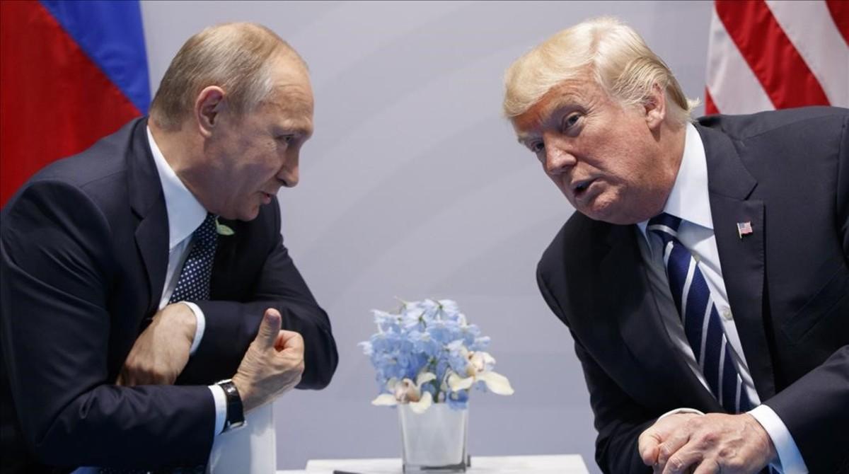 Encuentro entre Trump y Putin en el G-20 en Hamburgo.
