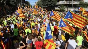 Diada, en Barcelona.