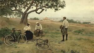 Ramon Casas, El descanso de los ciclistas (1886)