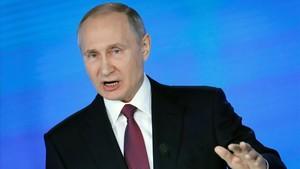 """Putin presenta el seu nou supermíssil: """"Escolteu-nos ara"""""""